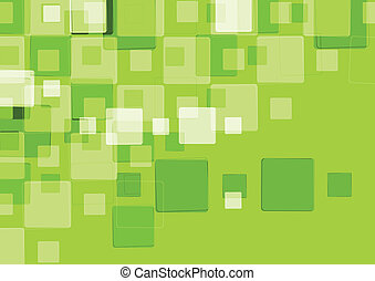 Abstract tech background with squares