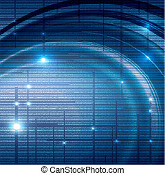 Abstract tech binary background - Abstract tech binary blue ...