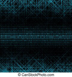 Abstract tech binary background