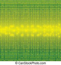 Abstract tech binary background - Abstract tech binary green...
