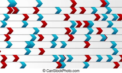 Abstract tech blue red arrows video animation