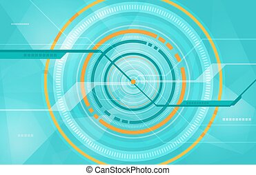 Abstract tech circle technology background