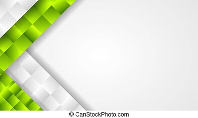 Abstract tech corporate green grey video animation -...