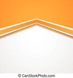 Abstract tech corporate orange background. Vector design