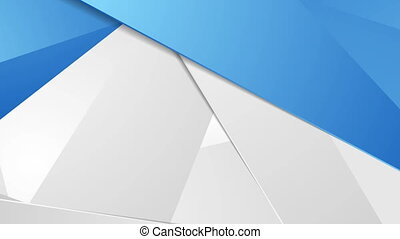 Abstract tech corporate polygonal motion design - Abstract...