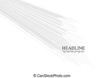Abstract tech grey lines background