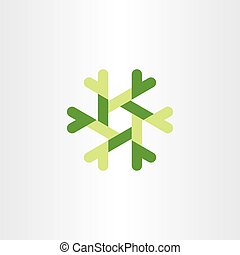 abstract tech logo vector green design element business icon