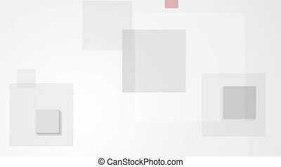 Abstract tech minimal geometric squares video animation -...