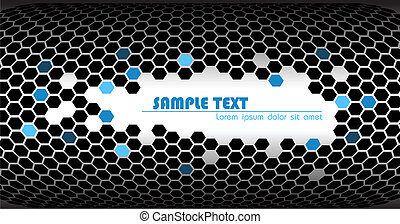 Abstract technical background made from hexagons
