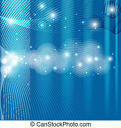 Abstract technical background with glow