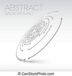 Abstract technical shape