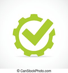 Abstract technical vector icon on white background