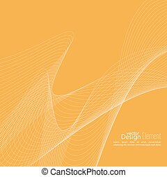 Abstract techno background with lines in waves. Flow popular...