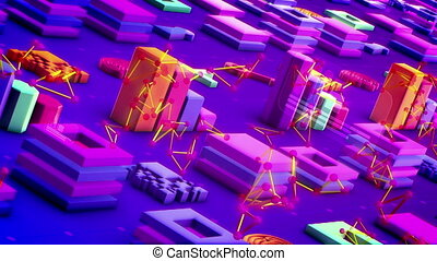 """Abstract Techno Symbols Placed Askew"" - ""Splendid 3d..."