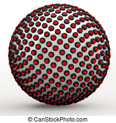 Abstract technol sphere, 3d golden ratio Fibonacci sequence...