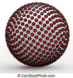 Abstract technol sphere, 3d golden ratio Fibonacci sequence...