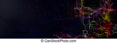 Abstract technological background.