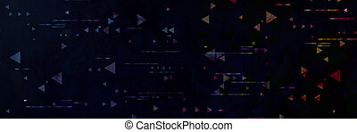 Abstract technological background. Neon circuit board with...