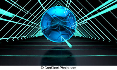 Abstract technological background of football