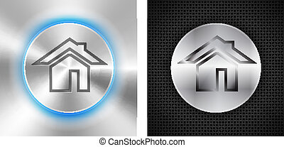 Abstract technological backgrounds with home icon