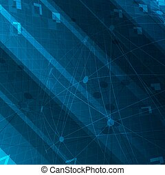Abstract technological Blue background. For digital themed designs.
