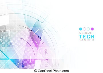 Abstract technological futuristic vector background with cog-wheel.