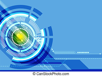 abstract, technologie, achtergrond, digitale