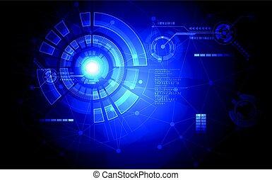abstract, technologie, concept, achtergrond., vector, illustratie