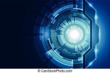 abstract, technologie, concept., vector, achtergrond