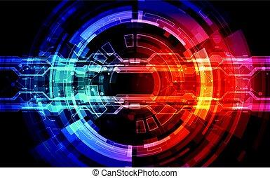 abstract, technologie, concept., vector, illustratie, achtergrond