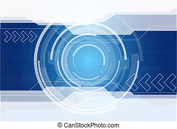 Abstract technology background - Abstract blue technology...