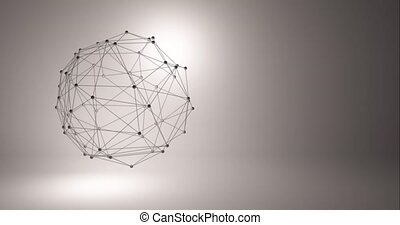 Abstract technology background. Background 3d grid. Cyber technology Ai tech wire network futuristic wireframe. Artificial intelligence . Cyber security background illustration