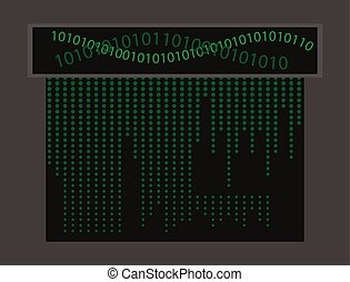 Abstract Technology Background. Binary Computer Code. Programming , Coding ,Hacker concept.
