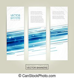 abstract technology background design for banners set