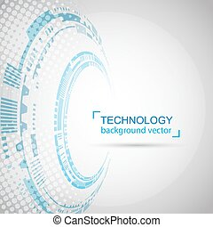 Abstract technology Background. Digital network and hightech concept. On White Background With Sample Text Area.