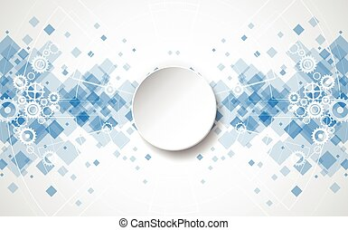 Abstract technology background. Illustration Vector