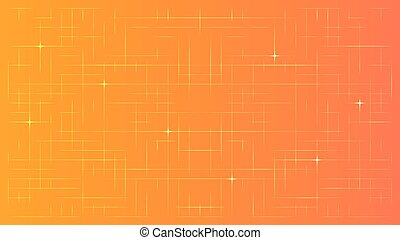 Abstract Technology Background - Abstract Ornage Technology...