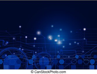 abstract technology background Vector illustration electronic circuit and gear.