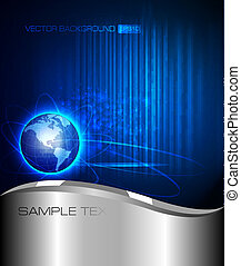 Abstract technology background. Vec