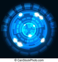 Abstract technology background with circles