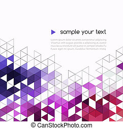 Abstract technology background with color triangle shapes