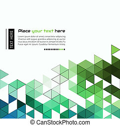 Abstract technology background with color triangle shapes. Vector illustration.