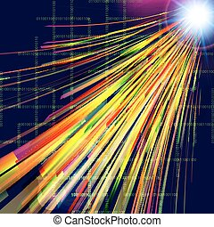 Abstract technology background  with light effect.