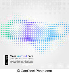 Abstract technology background with square shapes - Abstract...