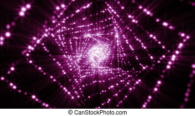 Abstract technology background with animation fast motion of...