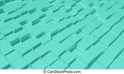 Abstract technology background with surface cubes