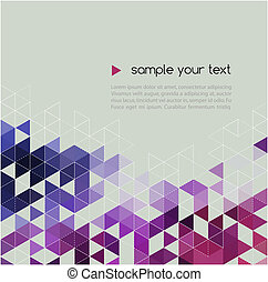 Abstract technology background with triangle. Vector ...