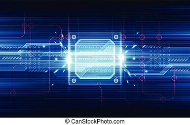 Abstract technology chipset processor background circuit...