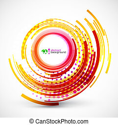 Abstract technology circle background - Shiny orange circle...