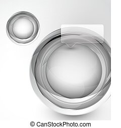 Abstract technology circle background